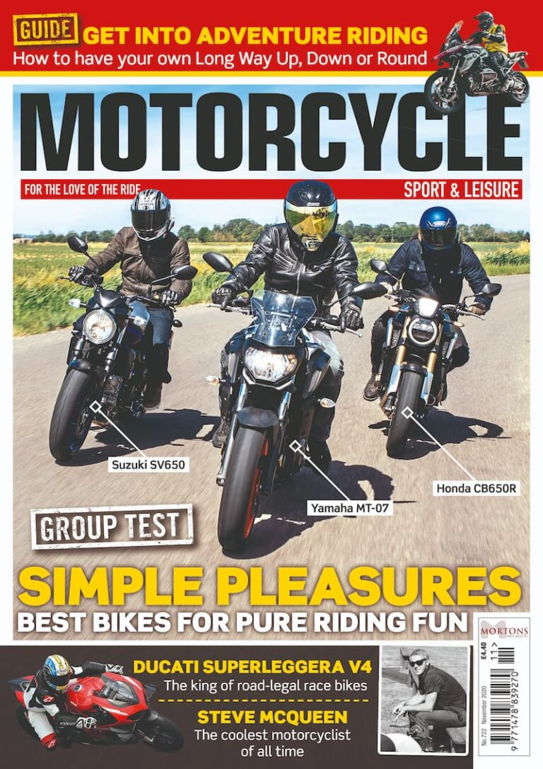 Motorcycle Sport and Leisure Magazine November 2020 Cover